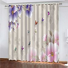 LUOWAN Curtains For Bedroom 45.6X90Inch Drop