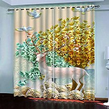 LUOWAN Curtains For Bedroom 51.5X94Inch Drop Elk