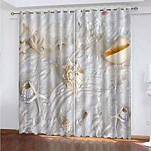 LUOWAN Curtains For Bedroom Blackout 22.8X54Inch