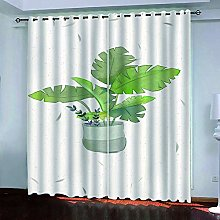 LUOWAN Curtains For Bedroom Eyelet 54.6X113Inch