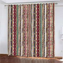 LUOWAN Curtains For Blackout 39X83Inch Drop Ethnic