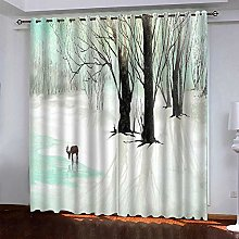 LUOWAN Curtains For Girls Bedroom 45.6X71Inch Drop