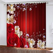 LUOWAN Curtains For Girls Bedroom 54.6X113Inch