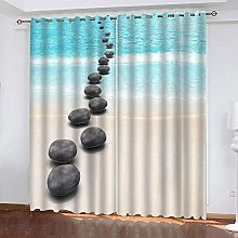 LUOWAN Curtains For Kitchens 27.3X62Inch Drop