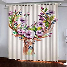 LUOWAN Curtains For Kitchens 39X62Inch Drop Elk