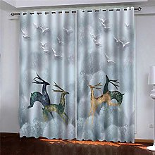 LUOWAN Curtains For Kitchens 45.6X71Inch Drop