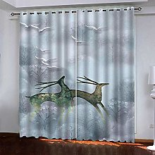 LUOWAN Curtains For Living Room 39X62Inch Drop