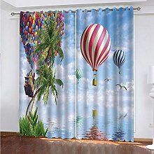 LUOWAN Curtains For Living Room Eyelet 45.6X71Inch