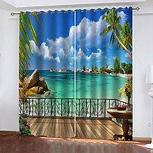 LUOWAN curtains shower curtain Balcony with