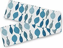 LUPINZ Colorful Fish Pattern Table Runner Table
