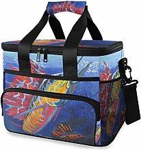 LUPINZ Tote Cooler Bag Cool Animal Colorful