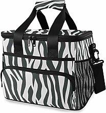 LUPINZ Tote Cooler Bag Cool Animal Zebra Print