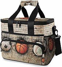 LUPINZ Tote Cooler Bag Cool Basketball Baseball