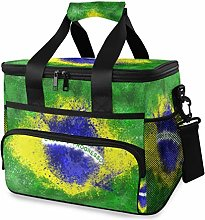 LUPINZ Tote Cooler Bag Cool Brazilian Flag Picnic