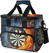 LUPINZ Tote Cooler Bag Cool Darts On Fire Water