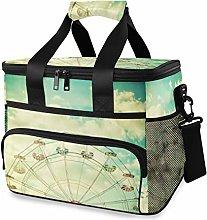 LUPINZ Tote Cooler Bag Cool Ferris Wheel Under