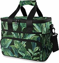 LUPINZ Tote Cooler Bag Cool Green Tropical Leaves