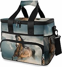 LUPINZ Tote Cooler Bag Cool Horse Running Picnic