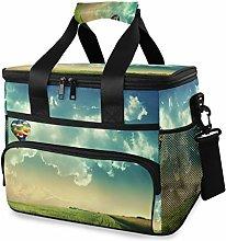 LUPINZ Tote Cooler Bag Cool Hot Air Balloon Picnic