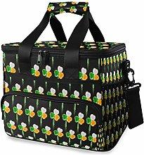LUPINZ Tote Cooler Bag Cool Irish Flag Clover