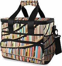 LUPINZ Tote Cooler Bag Cool Library Bookshelf