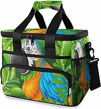 LUPINZ Tote Cooler Bag Cool Parrot in Palm Tree