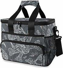 LUPINZ Tote Cooler Bag Cool Skulls Heads Print