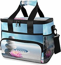 LUPINZ Tote Cooler Bag Cool Spa Stones and Lily