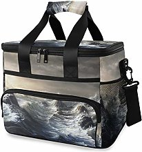 LUPINZ Tote Cooler Bag Cool Stormy Waters Picnic