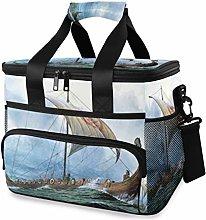 LUPINZ Tote Cooler Bag Cool Vikings Dragon Boat