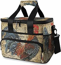 LUPINZ Tote Cooler Bag Cool Vintage Rooster Picnic