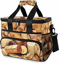 LUPINZ Tote Cooler Bag Cool Wine Corks Party