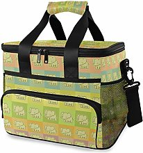 LUPINZ Tote Cooler Bag Elephants Colorful Cool