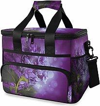 LUPINZ Tote Cooler Bag Purple Hydrangea Flowers