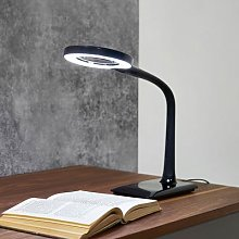 Lupo LED magnifying lamp in black