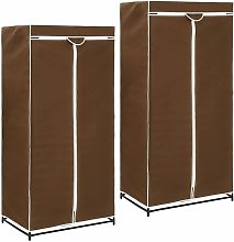 Luray 75cm Wide Portable Wardrobe by Brown -