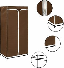 Luro 75cm Wide Portable Wardrobe by Brown -