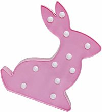 Lurrose Rabbit Night Light Up Marquee Sign Bunny