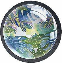 Lush Foliage Crystal Drawer Handles Furniture