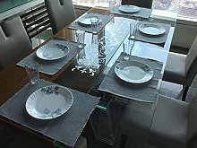 Lushomes Cotton Ribbed Placemats Table Linen Set