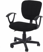 Lust study chair in black fabric & black base