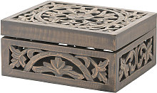 Lustro Wooden Carved Decorative Box (One Size)