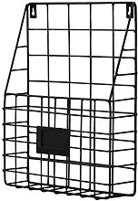 Luukiy Simple Wrought Iron Wall Hanging Magazine
