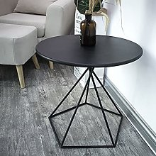 LUWOFU Bed side table black coffee table small