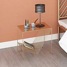 LUWOFU Bedside table small sofa side table modern
