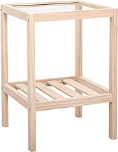LUWOFU Wooden coffee table bed side table simple
