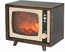 Luxa Retro TV Fire   Battery-Operated Flame Effect