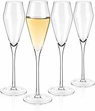 Luxbe - Champagne Crystal Glasses, Set of 4 -