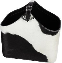 Luxe - Cowhide Magazine Basket