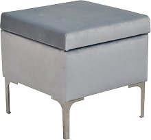 Luxe Storage Footstool Happy Barok Upholstery: Blue